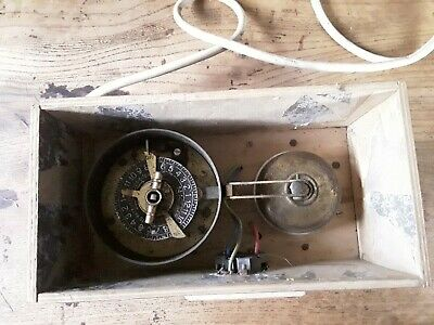 Amazing Vintage Collectable Brass Clockwork Mechanical Timeclock with 13A socket