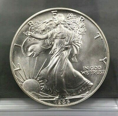 1986 1 oz American Silver Eagle Coin **FIRST YEAR**