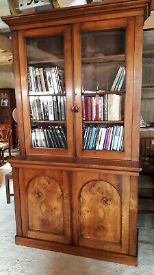Superb Antique Late Victorian walnut bookcase