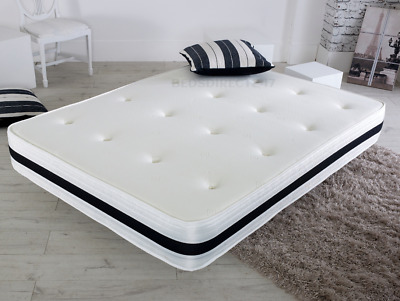 Memory Foam Sprung Orthopedic Matress 3Ft Single 4Ft6 Double 5Ft Kingsize!