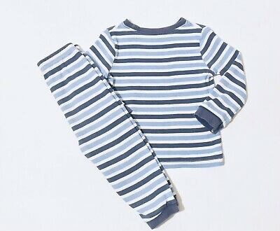 George Baby Boys Top And Bottoms Pyjama Set 18-24 Months Stripes Long Sleeve