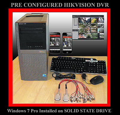 2 Tb 16 Ch Hikvision Pc Dvr - Remote Support -  Solid State Drive! Ds-4016Hci