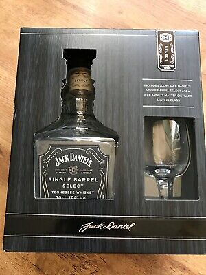 731740c127bc Jack Daniels Single Barrel Select Btl & Jeff Arnett Mast Distiller Tasting  Glass