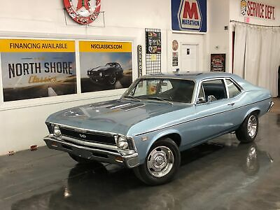 1968 Nova -FACTORY SHEETMETAL-SOLID SOUTHERN CLASSIC-SEE VID Chevrolet Nova Grotto Blue with 65,659 Miles, for sale!