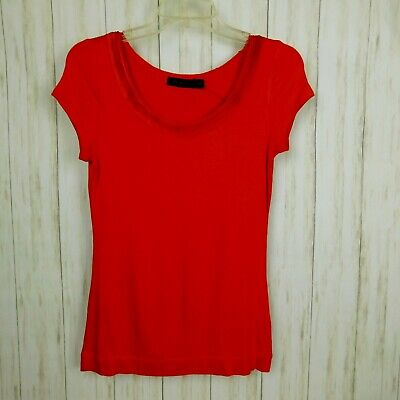 The Limited Woman Short Sleeve Top Medium Red