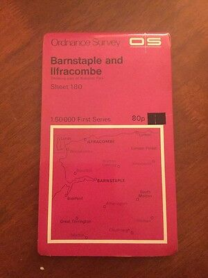 Barnstaple & Ilfracombe Ordnance Survey 1:50 000 First Series Landranger Map 180