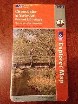 Cirencester & Swindon - Ordnance Survey Explorer Map - Sheet 169