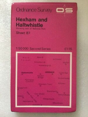 Hexham & Haltwhistle Old 1976 Ordnance Survey Second Series Landranger Map 87