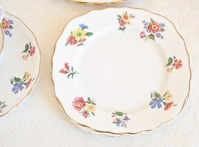 SET OF 2 BONE CHINA SMALL PLATES Made in England. Vintage Royal Vale