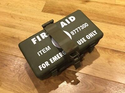 Willys Jeep first 1st aid tin and holder Dodge GMC