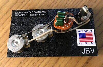 1960/'s Style wiring harness for Fender Jazz Bass with PIO Vitamin Q Caps NEW!!