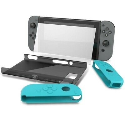 Nintendo Switch Full-Body Protection Kit+Tempered Glass Screen Protector GREY