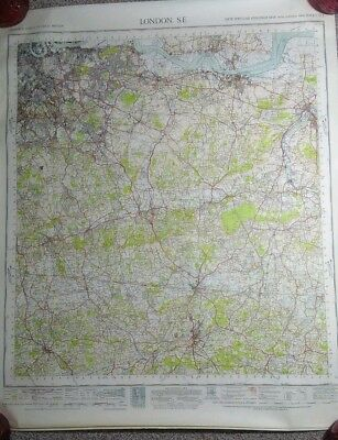 London S.E South East Ordnance Survey New Popular Edition One Inch Map 171