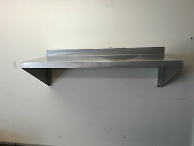 Brand New Stainless Steel Wall Mounted Shelving 1500 x 350 mm
