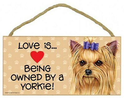 Love is...Being owned by a Jack Russell Pawprints Heart Dog Sign 10x5 Wood 784
