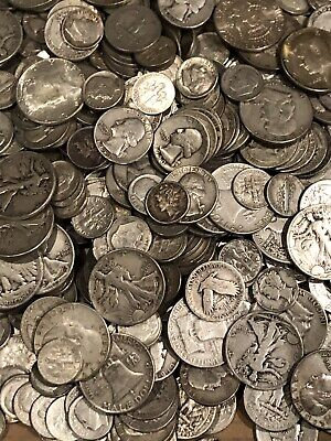 $1 Face Value 90% Not Junk Silver U.S. Coin Lot Half Dollars, Quarters or Dimes