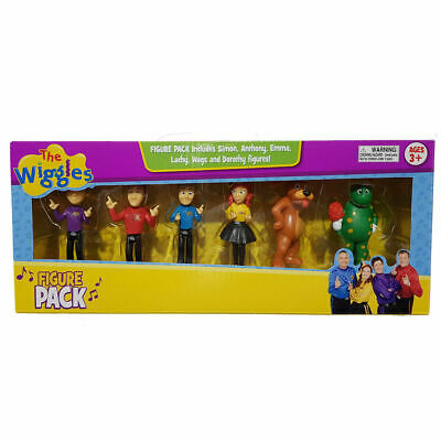 The Wiggles Figurines 6 Pack Anthony Emma Lachy SImon Wags Dorothy