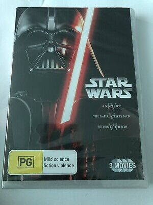 Star Wars Trilogy DVD Brand New & Sealed 3 Movies 🍿 Rated PG Region 4 Classics