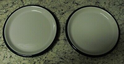 """Crown Corning Japan Sonora 9"""" Salad plate replacements (Set of 2) Mint White/Blu"""