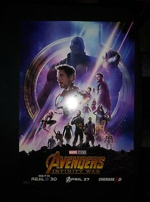Marvel AVENGERS INFINITY WAR 2018 Cinemark XD Week 2 Promo Mini Movie Poster