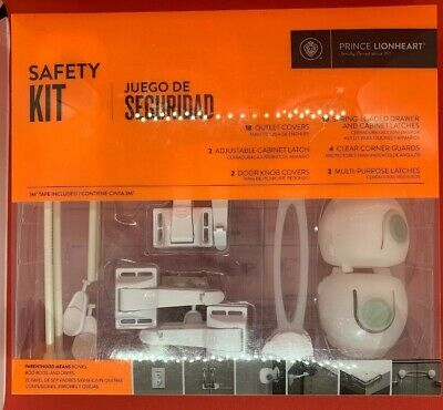 Prince Lionheart Safety Kit Complete outlet knob cabinet covers latches corners
