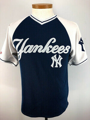 newest 6c84a 9b577 NEW YORK YANKEES MLB Stitches Pullover Jersey Shirt Adult Small