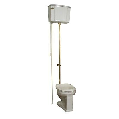 Barclay Victoria High Tank Pull Chain Toilet with Brass Hardware