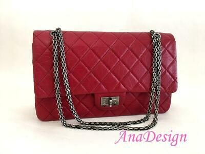 885f89751ff5  6000 Authentic Chanel Classic Reissue 227 Red Aged Calfskin Leather Double  Flap