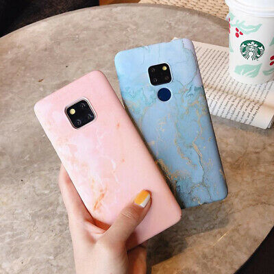 For Huawei Mate 20 Pro P20 Pro Stylish Granite Marble Hard Protective Cover Case