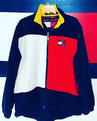 VINTAGE 90 TOMMY Hilfiger KITH Spell Out Color Block Supreme