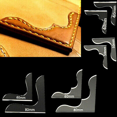 8x Leather Craft Acrylic Bag Wallet Corner Decoration Pattern Stencil Template.