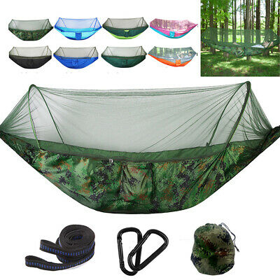 Double Person Hanging Hammock Travel Outdoor Camping Tent Swing Bed Mosquito Net