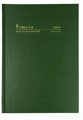 2019 2020 Collins Financial Year Diary A5 Week to View Open Hardcover 38M4 Green
