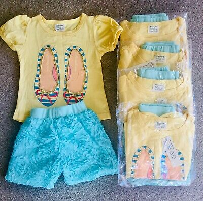 Bulk Lot Of Outfits - Cute Slipper Shoes And Embellished Shorts x 5