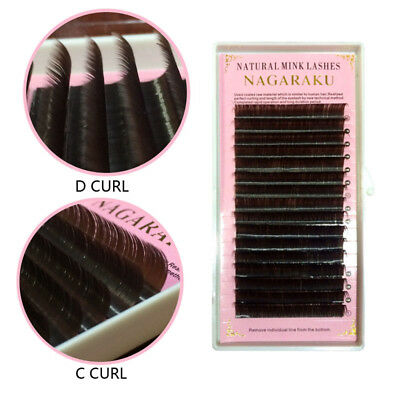16 Rows Brown Color Individual Eyelashes Extension Faux Mink Cilia Lashes Makeup