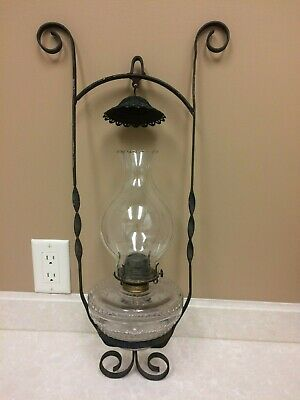 FREE SHIPPING  Light Fixture Hanging Antique Oil Gas Lantern
