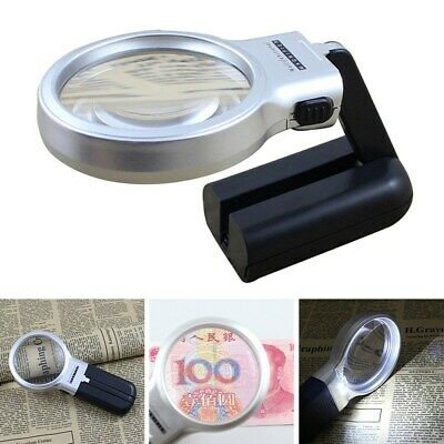 Portable Folding Magnifying Glass with LED Light Adjustable Lamp Magnifier Zoom