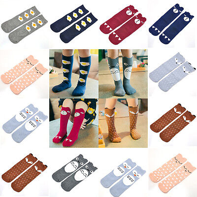 Baby Kids Toddlers Girls Knee High Socks Tights Leg Warmer Stockings Age 0-6 so
