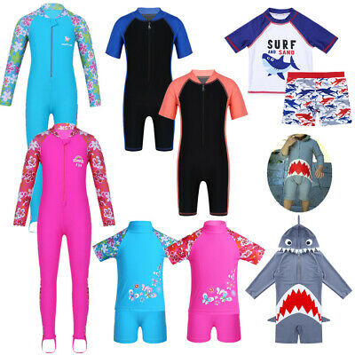 Kids Unisex Summer Swimsuit Rash Guard Costume Swimwear Surfing Wear Beachwear