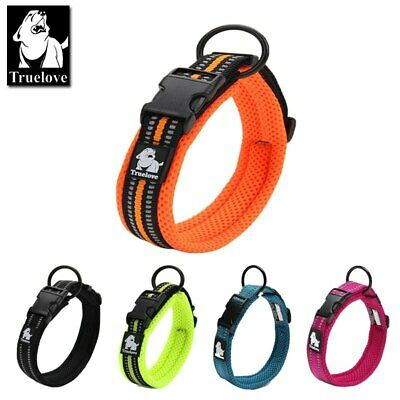 TRUELOVE Dog Collar Reflective Premium Buckle Nylon Webbing Training Collar