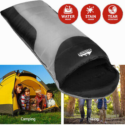 Weisshorn Single Camping Envelope Sleeping Bag Waterproof Polyester Outer Layer