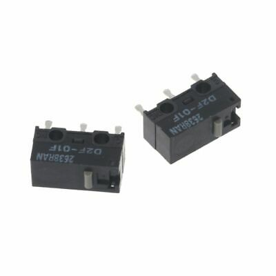4d8aa75ceec 2Pcs OMRON Mouse Micro Switch D2F-01F Gray Dot Gold Alloy Contacts Hot