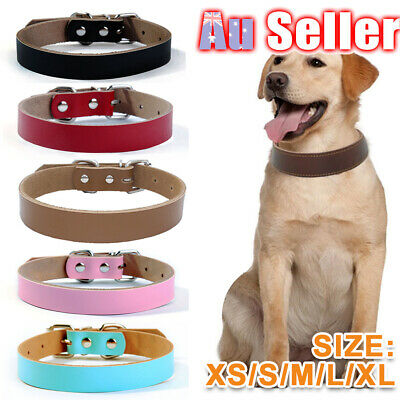 Genuine Leather M L Leads Pet Cow Puppy available Cowhide Real Dog Collar