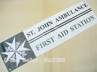 """St. John Ambulance Brigade """"First Aid Station"""" Large Size Outdoor Stand Banner"""