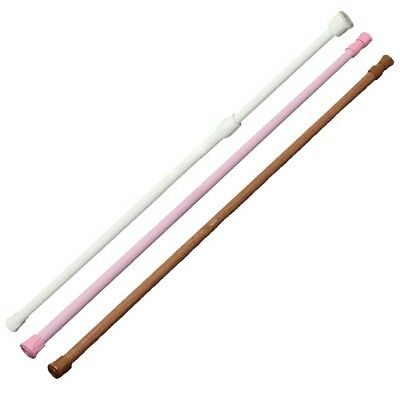 Spring Loaded Extendable Telescopic Net Voile Tension Curtain Rail Pole Rod BX