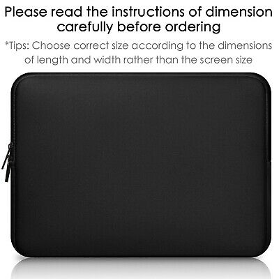 """Laptop Sleeve Case Pouch Cover Bag For 11"""" 12"""" 13"""" 14"""" 15"""" 15.6"""" Macbook HP Dell"""
