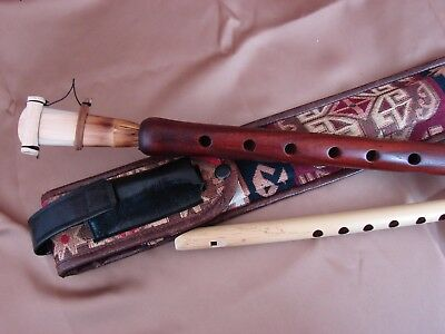 Armenian Pro Duduk Key A and Flute Handmade Apricot Wood Ornament cover + Gift