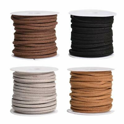 4pcs 5m Pu Leather Lace Beading Thread Cord String For Bracelet Necklace Diy L68