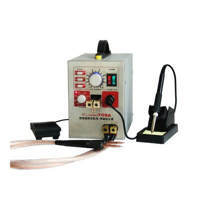 New 2in1 709A Micro-computer Pedal Control Battery Spot Welder Soldering Machine