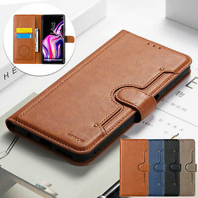 For Samsung Galaxy A7 S9 Plus S10e Leather Wallet Card Stand Phone Case Cover